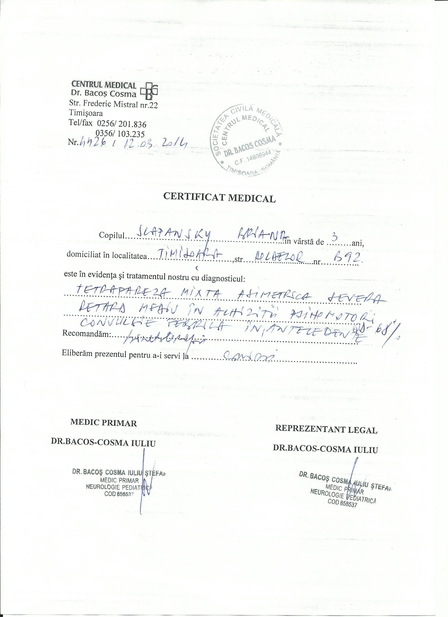 Medical Certificates Marisa Briana